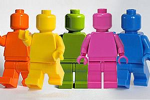 Minifig Lego Monochrome
