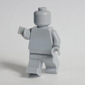 Lego Minifig monochrome Light Bluish Gray