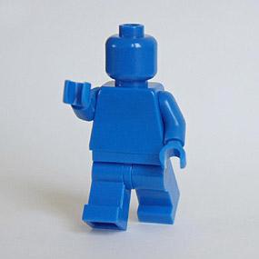 Lego Minifig monochrome BLEU - BLUE