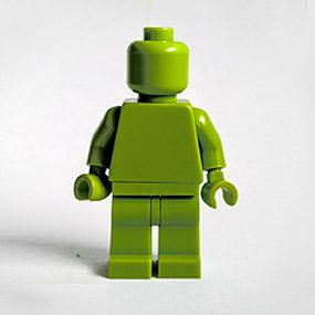 Lego Minifig monochrome LIME