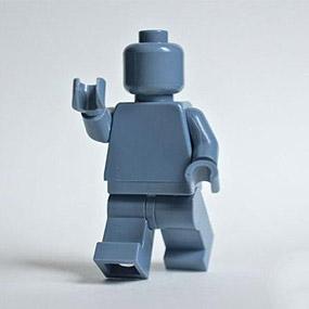 Lego Minifig monochrome SAND BLUE