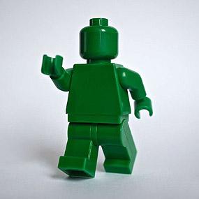 Lego Minifig monochrome GREEN - VERT