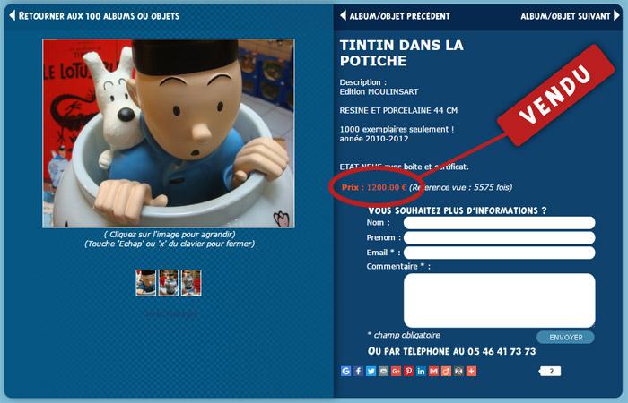 Potiche Tintin 44 cm