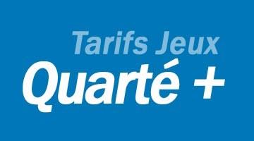 Tarifs Quarté + : Combiné et champs réduit