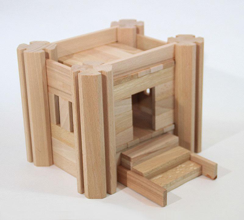Le Château Fort - Jeu de construction en bois