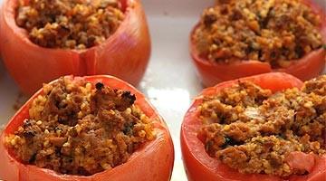 Tomates farcies aux joues de bœuf