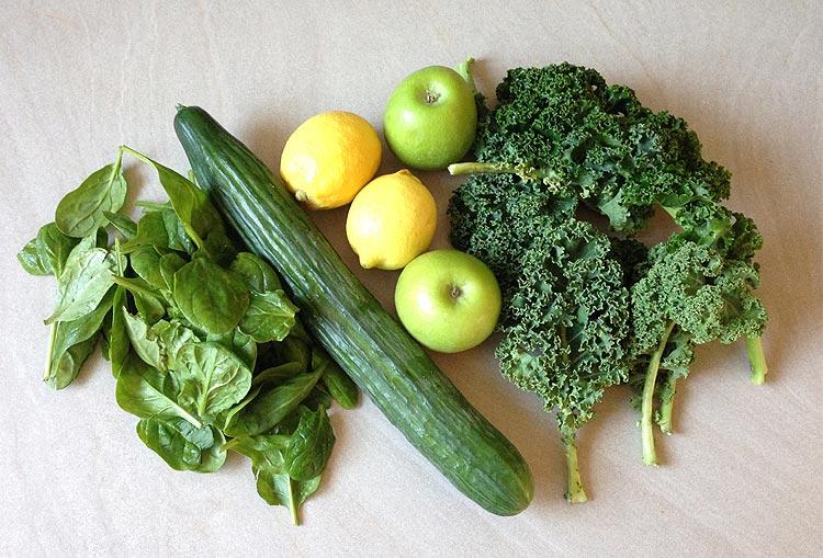 Les fruits et légumes - Jus vert