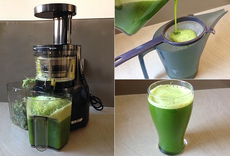 Extracteur de jus - Recette jus vert
