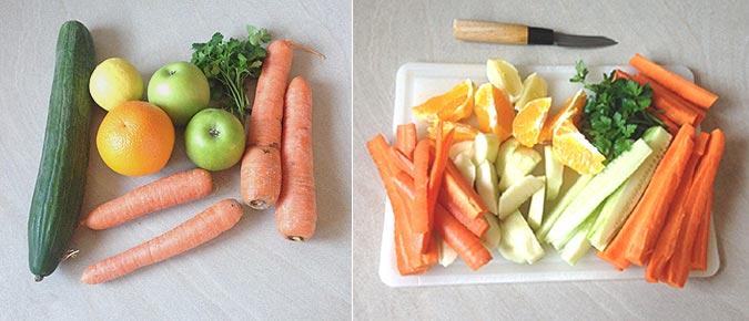 Préparation et épluchage des fruits et légumes