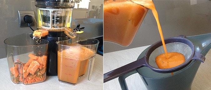 Extraire le jus à l'extracteur