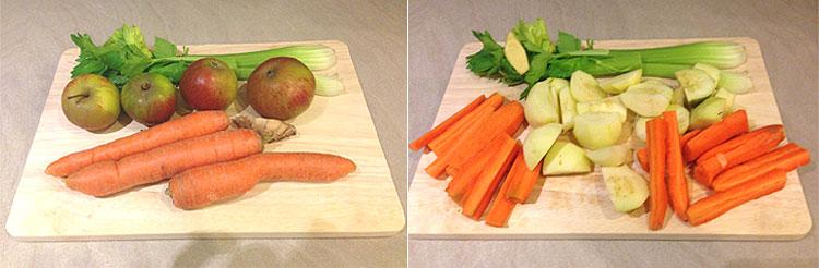 Préparation fruits et légumes - Jus Détox