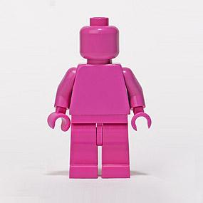 Lego Minifig monochrome DARK PINK