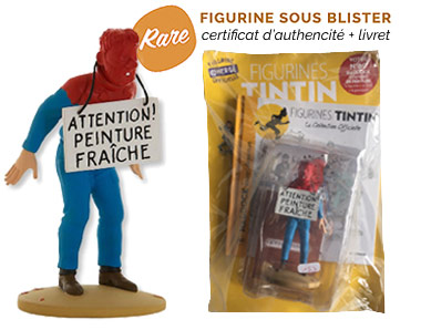 Haddock couvert de peinture - Figurine Tintin 69