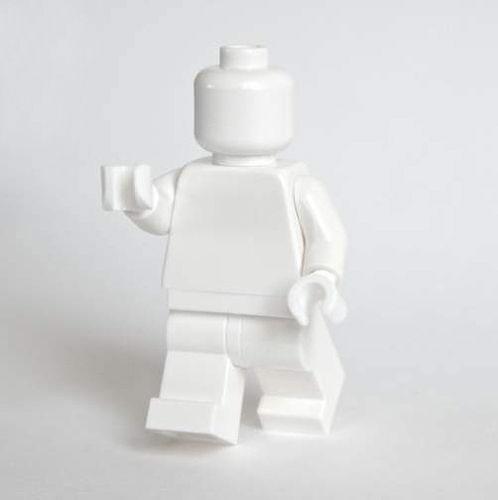 Lego Minifig monochrome BLANC - WHITE