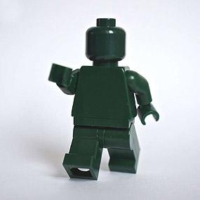 Lego Minifig monochrome DARK GREEN