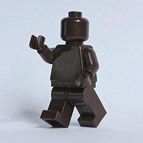Lego Minifig monochrome DARK BROWN - MARRON FONCÉ