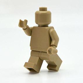 Lego Minifig monochrome DARK TAN