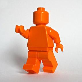 Lego Minifig monochrome ORANGE