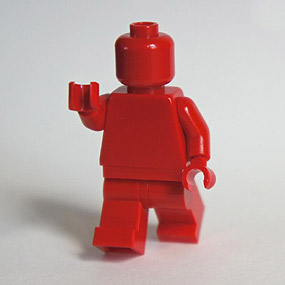 Lego Minifig monochrome ROUGE - RED