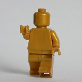 Lego Minifig monochrome PEARL GOLD