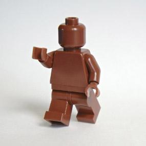 Lego Minifig monochrome REDDISH BROWN