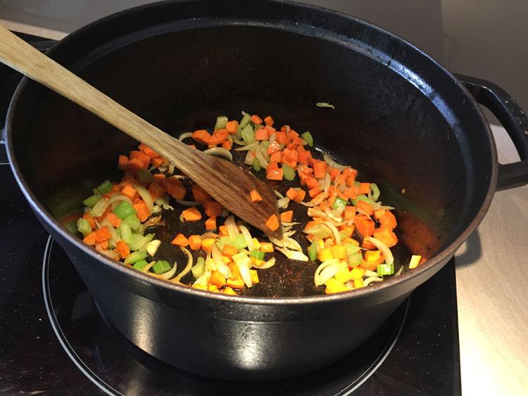 Remuez les légumes - Osso Bucco Veau