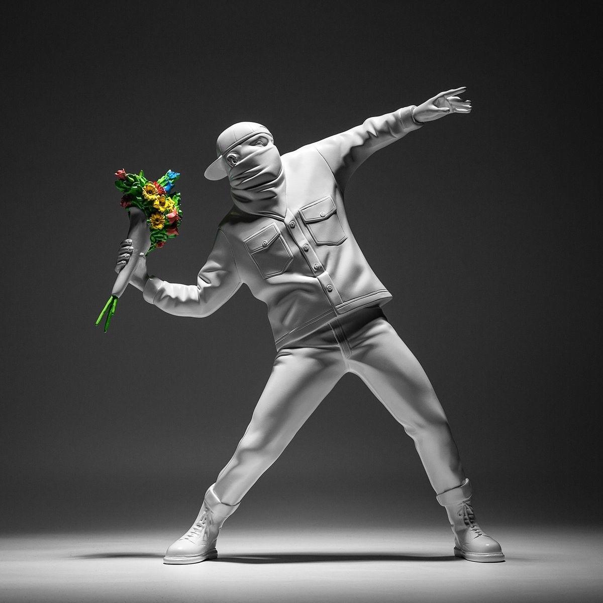 Statuette - Banksy Medicom Flower Bomber