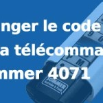 Changer digicode porte de garage SOMMER 4071
